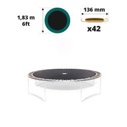 Telo da salto tappeto elastico Ø183 - 42 molle 136 mm