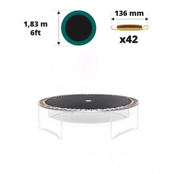 Toile de saut pour trampoline Ø 183 à 42 ressorts 136 mm
