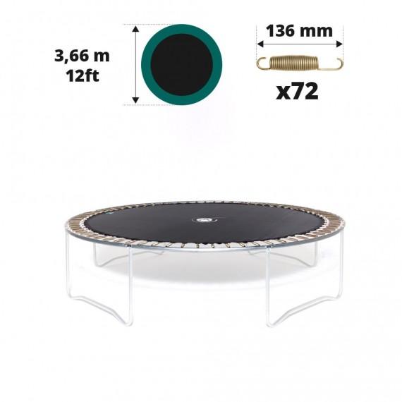 Toile de saut pour trampoline Ø 366 à 72 ressorts 136 mm