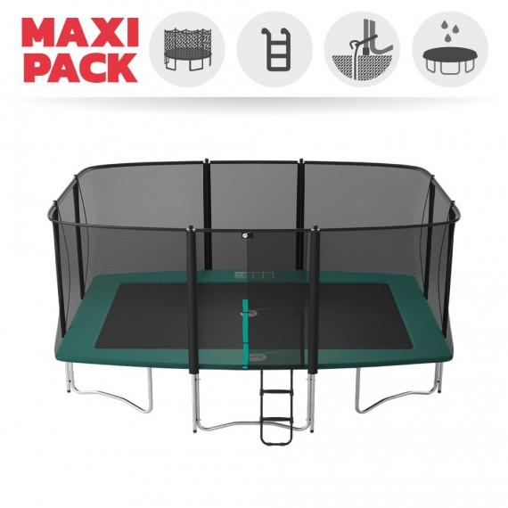 Maxi Pack Tappeto elastico Apollo Sport 500 + rete + scaletta + kit d'ancoraggio + telo