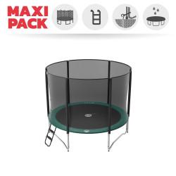 Maxi pack tappeto elastico Jump'Up 300 + rete + scaletta + kit d'ancoraggio + telo