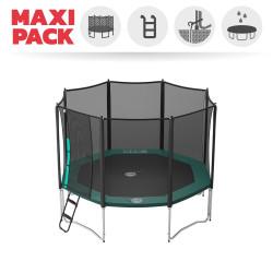 Maxi Pack Tappeto elastico Waouuh 360 + rete + scaletta + kit d'ancoraggio + telo