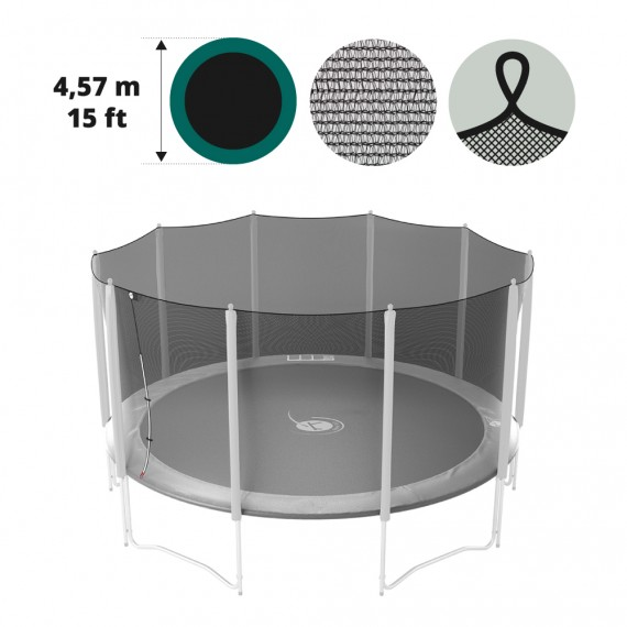 15ft trampoline net with straps