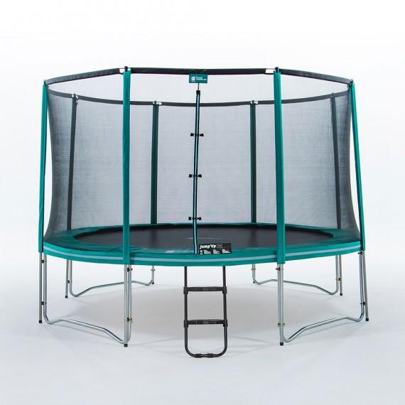 Maxi pack tappeto elastico Jump'Up 390 + rete + scaletta + kit d'ancoraggio + telo