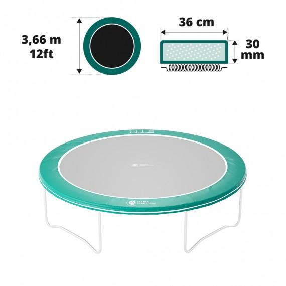 Cuscino di protezione verde 360 - 30 mm / 41 cm