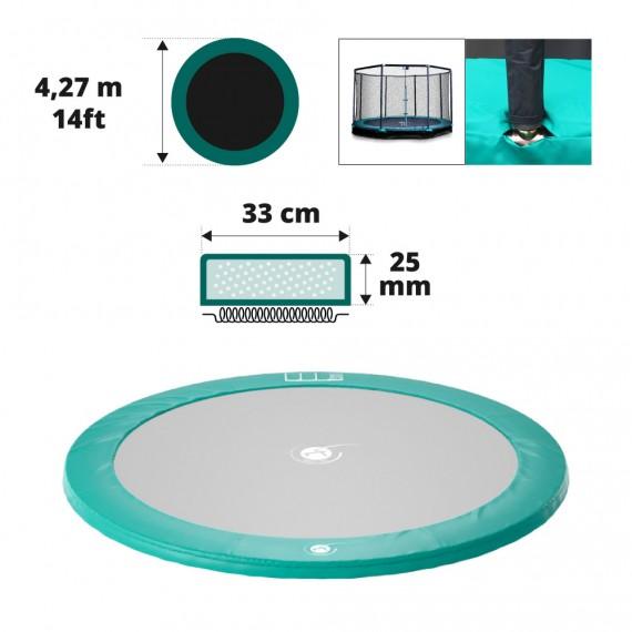 Tampone di protezione verde per trampolino interrato Ø427