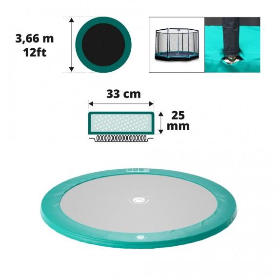 Cuscino di protezione verde per trampolino interrato Ø366