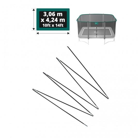 Set di fiocchi in fibra di vetro per rete Apollo Sport 400 - Ø 12mm