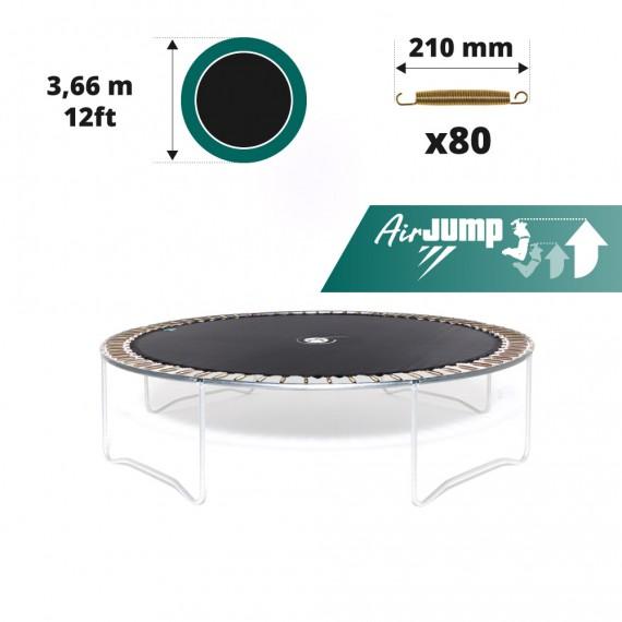 Telo salto tappeto elastico Ø 366 - 80 molle 210 mm
