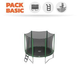 Pack basic tappeto elastico Access 250 + rete + scaletta + kit d'ancoraggio
