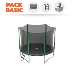 Pack basic tappeto elastico Access 300 + rete + scaletta + kit d'ancoraggio