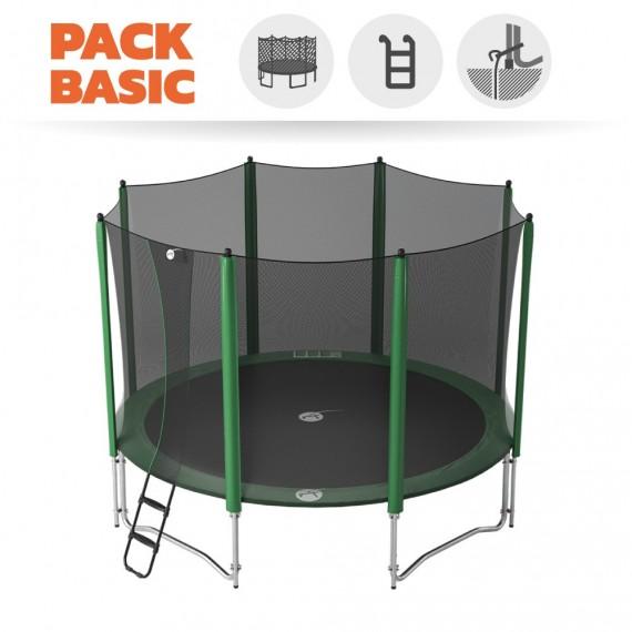 Pack basic tappeto elastico Access 430 + rete + scaletta + kit d'ancoraggio