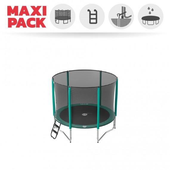 Maxi pack tappeto elastico Jump'Up 250 + rete + scaletta + kit d'ancoraggio + telo