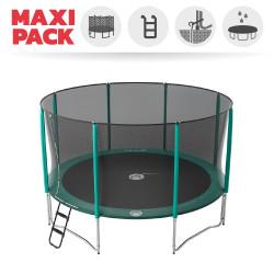 Maxi pack tappeto elastico Jump'Up 430 + rete + scaletta + kit d'ancoraggio + telo