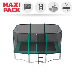 Maxi Pack Tappeto elastico Apollo Sport 400 + rete + scaletta + kit d'ancoraggio + telo