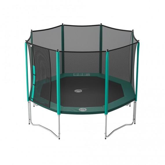 Tappeto elastico Waouuh 360 con rete e scaletta