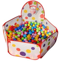 Piscine à balles enfants + 200 balles multicolores