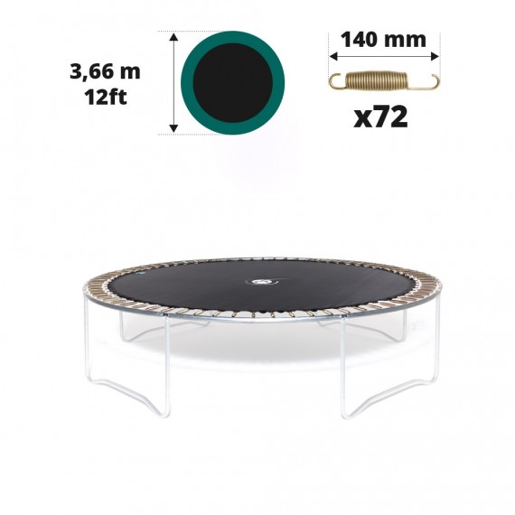 Telo salto tappeto elastico Ø 366 - 72 molle 140 mm