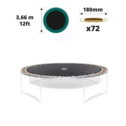 Telo da salto tappeto elastico 360 - 72 molle 180 mm