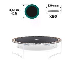 Telo salto tappeto elastico Ø 366 - 80 molle 230 mm argentate