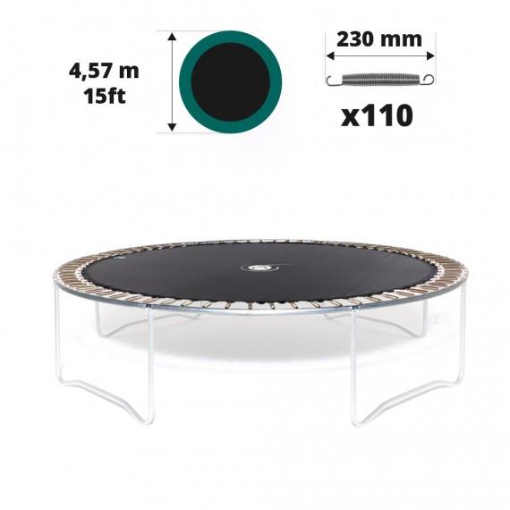 Telo salto tappeto elastico Ø 457 - 110 molle 230 mm argentate