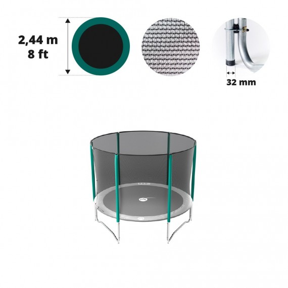 Rete con 6 pali per tappeto elastico tappeto elastico Ø 244