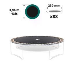 Telo salto tappeto elastico Ø 396 - 88 molle 230 mm argentate