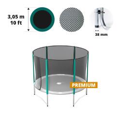 Rete con 6 pali per tappeto elastico Ø 305 Premium
