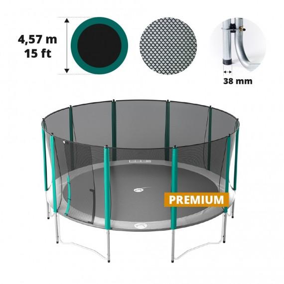 Rete con 10 pali per tappeto elastico Ø 457 Premium