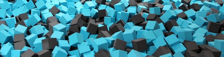 Cubes de mousse