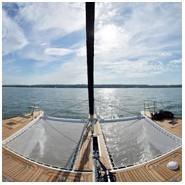 Trampolini per catamarano