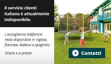 Il servizio clienti italiano è attualmente indisponibile.
