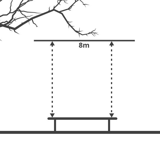 Diagramma altezza necessario per del tappeto elastico