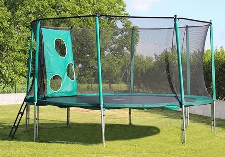 Tappeto elastico da giardino con trampofoot