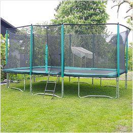 Tappeto elastico rettangolare da giardino con rete
