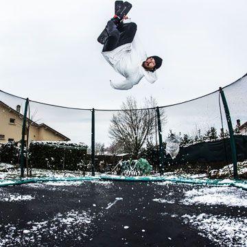 Tappeto elastico Waouuh con rete e sciare