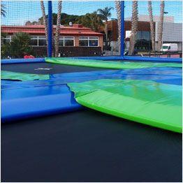 Spessore cuscini di protezione tappeti elastici professionali Aerò