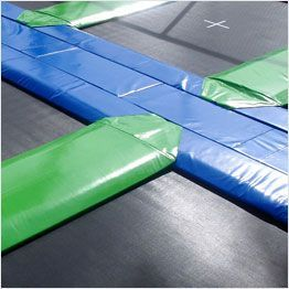 Cuscino di protezione tappeti elastici professionali Aerò vista superiore