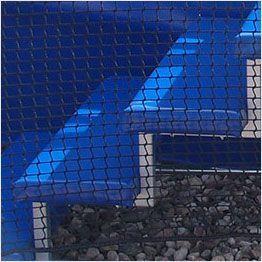 Dettaglio scaletta per tappeto elastico professionale Aerò