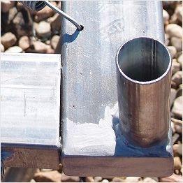 Telaio in acciaio per tappeto elastico rettangolare