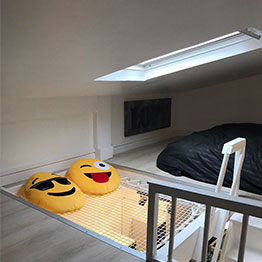 Rete da arredo in un mini appartamento