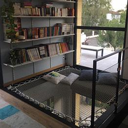 Rete da arredo in una sala lettura